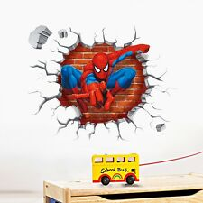 3D Spider Man Kids Room Decor Wall Sticker Boys Bedroom Art Decals Nursery Mural