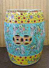 Hand Painted Flower & Bird Chinese Porcelain Garden Stool Seat