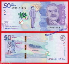 COLOMBIA 50000 Pesos 2015 (2016) Garcia Marquez Pick NEW  SC / UNC