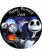 "NIGHTMARE BEFORE CHRISTMAS 7,5 ""la Carta di riso COMPLEANNO CAKE TOPPER"