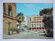 AGRIGENTO Piazza Vittorio Emanuele FIAT 500 autobus bus vecchia cartolina