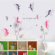 Wall Sticker Fairies Pink Living Room Dandelion Mural Decal Paper Art Decoration