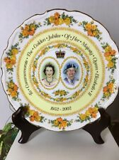 "Queen Elizabeth II Golden Jubilee PLATE 8 ¼"" Diameter Royal Albert Bone China"