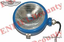 "BLUE HEADLIGHT HEAD LAMP ASSEMBLY + BULB FORD TRACTOR FLAT 5.5"" GLASS @ ECspares"