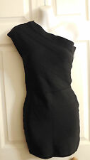 NWOT GUESS BY MARCIANO BLACK ONE SHOULDER BODYCON DRESS XS