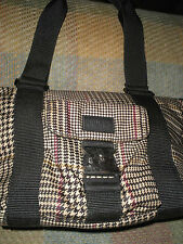 NICE LAUREN Ralph Lauren Nylon Plaid Handbag Purse