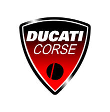 Sticker DUCATI CORSE ROUGE Monster Hypermotard Strada - 8cm x 7,5cm