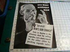 """vintage Original Sales Poster 12 x 18"""": TELEPHONE RELATED, Regrades in DAYTON OH"""