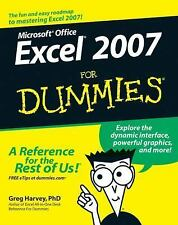 Microsoft Office Excel 2007 for Dummies® by Greg Harvey (2006, Paperback)