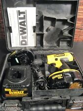 DEWALT CORDLESS DRILL DRIVER DC759, CHARGER, TWO BATTERIES, CASE VG WORKS - READ