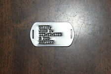 Real Debossed Slotted Military Dog Tag Made 4 You for Bracelet or Collar