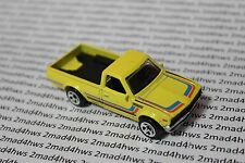 2015 Hot Wheels PACKAGE PULL yellow DATSUN 620 pickup truck KMART ONLY 5sp