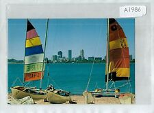 A1986cgt Australia WA Perth Yachts Skyline from South Perth postcard
