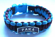 PARACHUTE REGIMENT PARA PARACORD WRISTBAND WITH BADGES