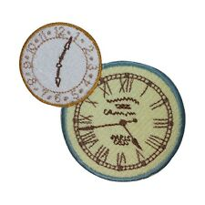 ID 3080 Clock Face Embroidered Iron On Applique Patch