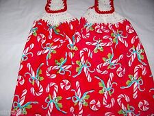 KITCHEN/HAND TOWELS WITH CROCHETED TOPS/CHRISTMAS/HOLIDAY CANDY CANES