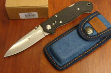 CRKT 7255Z LAKE 111 LOCKBACK FOLDING KNIFE STRAIGHT EDGE L.B.S. with SHEATH NEW