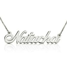 Silver Name Necklace Personalized Name Necklace Women Custome Name Necklace