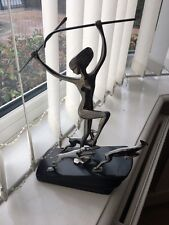 Stunning Original Karl Hagenauer Art Deco 'flames of the Forest' Diane Sculpture