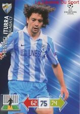 U62 MANUEL ITURRA MALAGA CF CHILE CARD CHAMPIONS LEAGUE ADRENALYN 2013 PANINI