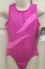 **NEW** GK leotard CL gymnastics leo child large pink mystique NWT