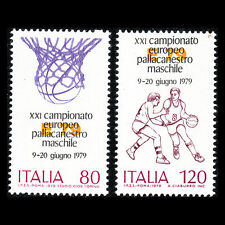 Italy 1979 - European Basketball Championship Sports - Sc 1373/4 MNH