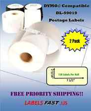 2 Rolls - Postage Labels - PayPal eBay - Dymo® Compatible Labels - 99019