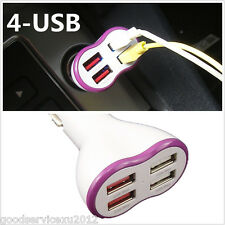 5V 2.1A Portable 4 USB Interfaces Car Interior Cigarette Lighter Charger Adapter