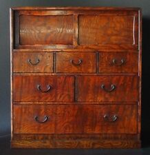 ANTIQUE JAPANESE TANSU DRAWERS CHEST  LACQUERED  1920s - 1940s