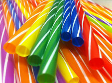 50PCS MULTICOLOUR MILKSHAKE JUMBO SMOOTHIE THICK DRINK DRINKING STRAW PARTY
