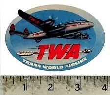 "Vintage TWA Trans World Airline sticker decal 4""x2.7"""