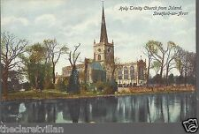 Stratford Holy Trinity Church from Island   Old Unposted Postcard