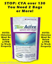 Bio Active Cyanuric Acid Reducer Lower Pool Water CYA Level  ** STOP READ NOTE**