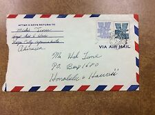 {BJ Stamps}. Ryukyus 1960 cover Koza to  Hawaii  with stamps #51 and 46