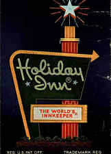 Altoona Pennsylvania postcard ~1960/70 Werbekarte Holiday Inn Leuchtreklame
