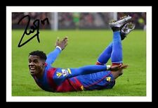 WILFRIED ZAHA - CRYSTAL PALACE AUTOGRAPHED SIGNED & FRAMED PP POSTER PHOTO