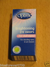 OPTREX BRIGHTENING EYE DROPS FOR DULL EYES 10ml NEW/BOXED expiry 2018