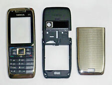 Silver Housing cover fascia faceplate facia case for Nokia E51
