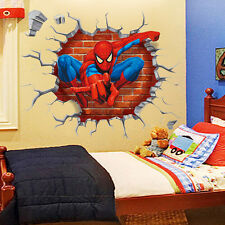 Spiderman Wall Stickers 3D Art Mural Decal Removable Kid Boys Bedroom Home Decor