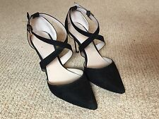 Well Worn Women's Work Shoes High Heels Carvela Size 5 Black Suede Leather