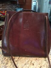 Mark Cross Brown Bridal Leather Bag w dust jacket and info packet