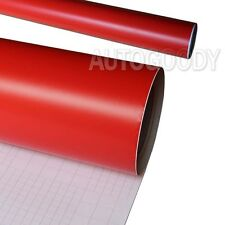 "12"" x 60"" Matte Flat Red Vinyl Film Wrap Sticker Decal Bubble Free Air Release"
