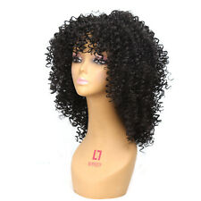 Medium Long afro Kinky Curly wig Synthetic wig