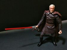 """Star Wars Count Dooku ROTS 3.75"""" Slashing Lightsaber Attack Complete with Cape"""