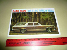 1967 American Motors Station Wagons Sales Brochure - Vintage