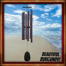 NEW WOODSTOCK CHIMES BELLS OF PARADISE, LARGE, BURGUNDY, MUSICALLY TUNED, NICE!!