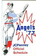 1977 California Angels Pocket Schedule - J.C. Penny