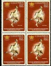 ATLETISMO- IV JUEGOS BOLIVARIANOS-  B/QUILLA  1961  4 STAMPS-COLOMBIA