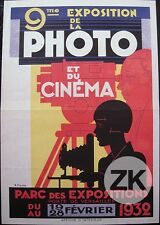 EXPOSITION PHOTO CINEMA Photographie Camera Exposition PICHON Affiche 1932 #2