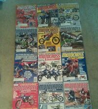 LOT OF 8 2001 MOTOCROSS ACTION JANUARY-DECEMBER 125 250 450 SHOOTOUT & LOTS MOR
